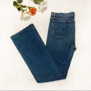 J Brand Bootcut Jeans With Slight Distressing